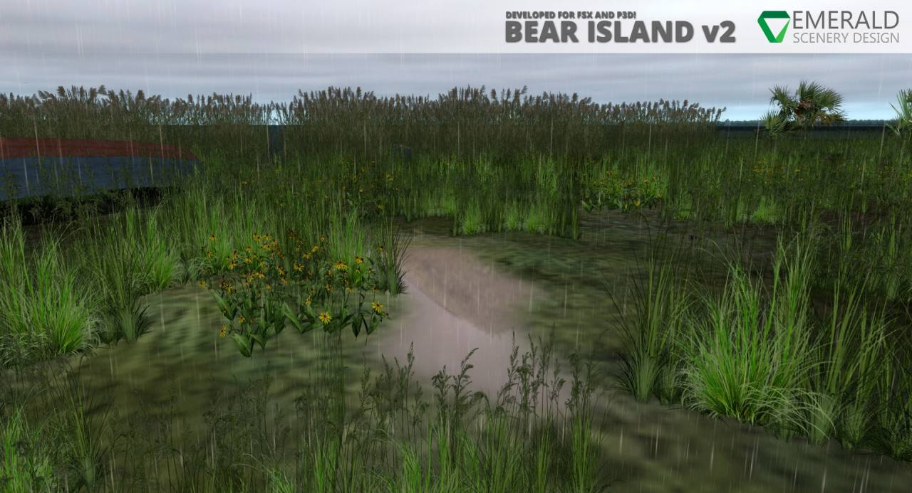 Bear Island, Florida v2.0 - Dynamic Rain Puddles with SODE