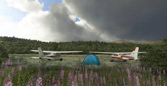 Stampede Airport, Alaska scenery for MSFS